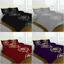 New Dominic Duvet Cover Bed Set With Pillow Cases Single Double KIng Super King