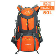 50L Waterproof Outdoor Climbing Backpack Camping Hiking Daypack Travel Bag