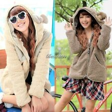 New Korean Fashion Women Thicken Fleece Hoodie Coat Jacket Outerwear hot BF9