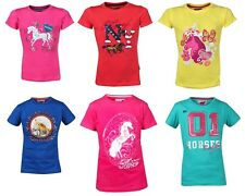 Red Horse T-Shirt With Print Childs Horse Riding Top ALL SIZES & COLOURS