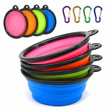 Travel Dog Bowl,Collapsible Cup Dish for Pet Cat Food Water Portable Carabiner