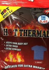 Men's Hot Thermal T-shirt And Long Johns Blue Grey And White Sizes Small-X-Large
