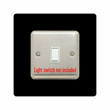 single LIGHT SWITCH SURROUND | 3mm acrylic Finger Plate | 16 Colours | FREE P&P
