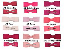 Pinks ~ Choose 1 Clip On Skinny / Thin Cotton Bow Tie ~ Men or Boys Size NEW