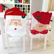 Mr/Mrs Santa Claus Dining Chair Covers Christmas Decorations Festive Party lia