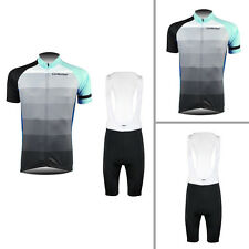 Casual Mens Bike Riding Jersey Bib Shorts Kits Cycling Shirt Brace Tights Suits