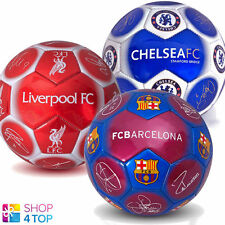 OFFICIAL FOOTBALL SOCCER CLUB TEAM BALL SIZE 5 SIGNATURE 32 PANEL LICENSED  NEW