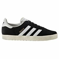 Adidas Gazelle Black White Youth Trainers