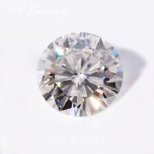 Loose Moissanite 0.8 Carat Lab-Created Diamond Round Cut Off White 6.0 mm