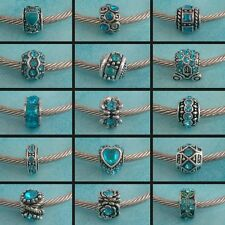 ~ Antique Silver Turquoise Style Charms ~ 99p Each ~ Buy 4 Get 1 Free ~Gift Bag~