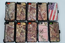 For iPhone 6 6s 6 Plus 6s+ Camouflage Realtree Case (Clip Fit Otterbox Defender)