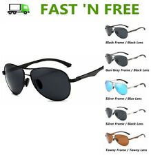Al-Mg Alloy Frame Unisex Retro Aviator Polarized Sunglasses Driving Glass UV400