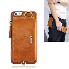 Top Luxury Genuine Leather Clip Flip Wallet Phone Case Pouch For Iphone 7 7 Plus
