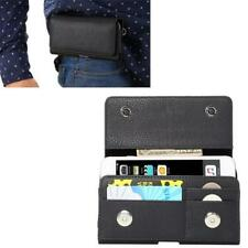 Moble Phone Clip Belt Card Leather Cover Case For Iphone Samsung HTC LG Huawei