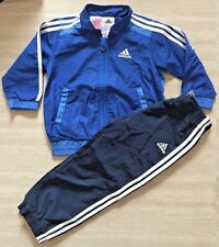 Adidas Boy's Baby Toddler Shellsuit Tracksuit NEW 9 months to 3 Years Blue