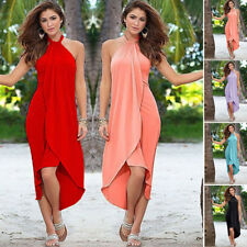 Womens Ladies Sexy Dress Maxi Cotton Beach Sundress Evening Party Cocktail Dress