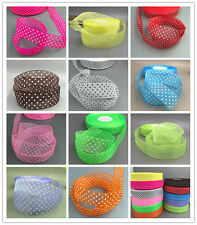 100 Yards 25mm dot Satin Edge Sheer Organza Ribbon Bow Craft Wedding DIY