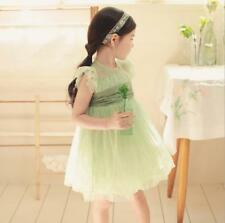 Lovely 2-7Y Kids Baby Girls Princess Dress Tutu Puffy Dress Party Clothes Summer