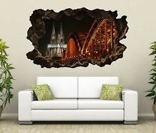 3D Wall Decal Skyline Cologne Bridge Cathedral City Sticker 11G392
