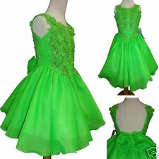 Toddler & Girl Formal Dress for Pageant Dance Wedding Party Green Fuchsia Blue
