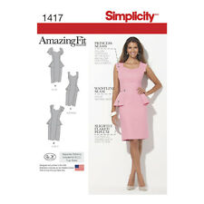 Simplicity 1417 | Misses' & Women's Amazing Fit Peplum Dress Sewing Pattern