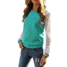 Womens Tops Long Sleeve Lace Blouse Shirts for Women Ladies Top Casual Tunic Lad