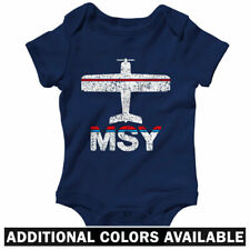 Fly New Orleans MSY Airport One Piece - Baby Infant Creeper Romper NB-24M  Plane