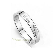 S925 Sterling Silver Unisex Love Forever Ring/18k GP/Free Engraving