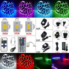 5M Led Strip 3528 5050 5630 SMD RGB Warm White 300 Light Strips/Key Remote/Power
