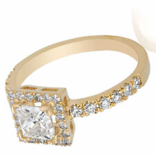 Diamond Engagement Ring Certified 0.82 CT G Si1 14K Yellow Gold Size 7 Enhanced