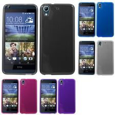 For HTC Desire 626 Case TPU Rubber Crystal Skin Phone Slim-Grip Cover