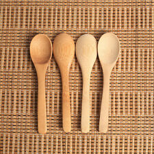 4Pc/Lot Wooden Spoon Bamboo Kitchen Cooking Utensil Tool Soup Teaspoon Catering