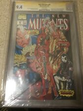 New Mutants #98 2/91 CGC 9.4 SS Stan Lee 1st DEADPOOL