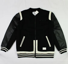 Crooks & Castles The Challenger Varsity Jacket in Black and White XL NWT CROOKS