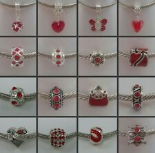 ~ Red Style Charms ~ 99p Each ~ Buy 4 Get 1 Free ~ Organza Gift Bag ~