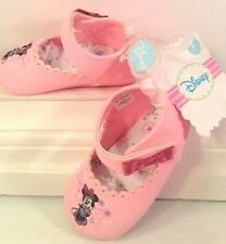 NWT DISNEY Minnie Mouse Baby Girl Mary Jane's Crib Shoes Size 1&2 ADORABLE