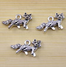 wholesale:20/40/100 pcs Retro style Very lovely Wolf alloy charm pendant