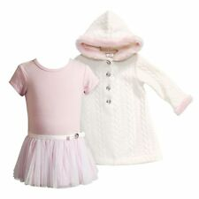 NWT $54 Baby Girl Youngland 2-pc Tulle Sweater Dress & Jacket Set EASTER 12-24 M