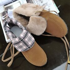 Womens Suede Lace Up Low Wedge Heels Booties Snow Winter Ankle Boots Shoes