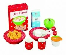 Wooden Food Toy: Fabulous Breakfast Set With 11 Pieces. Ideal Wooden Gift For Ch