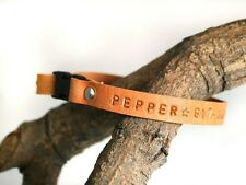 Dog Cat Pet Puppy Leather Breakaway Collar Personalized Collar Necklace Safety