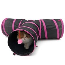 Pet Cat Kitten Play Toy Exercise Tunnel Cave Funny 3 WAY Y Shape Foldable