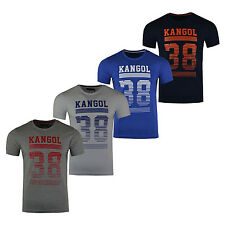New Mens Kangol Crew Neck Casual Top Short Sleeve T-shirt