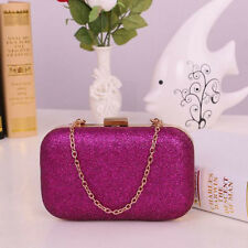 Women Luxury Clutch Box Bags Evening Party Glitter Chain Hand Bags Wallet USA