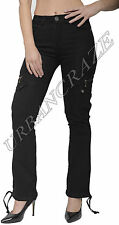 New Womens Combat Trousers Ladies Wide Loose Denim Cargo Jeans Boyfriend Pants