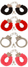 Metal Fluffy Furry Handcuffs Fancy Dress Sexy Role Play Night Toy Red Black Pink
