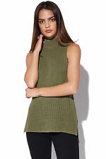 New ALL ABOUT EVE Womens Angelica Knit Khaki