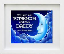 Love You To the Moon & Back Fathers Day Gift Present Mounted Print Card