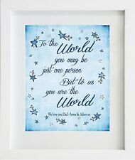 To the World... Fathers Day Gift Present Mounted Print Card