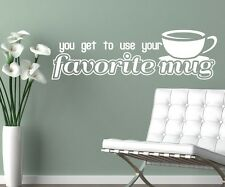 Wall Decal Coffee mug Coffee Saying funny Cafe Wall Sticker Kitchen Cup 1D337